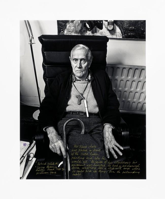 William Yang (Australia b. 1943) 'Patrick White #1, living room, Martin Road' 1988