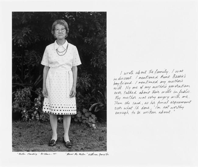 "William Yang (Australia b. 1943) '""Mother Standing"" Brisbane' 1981"