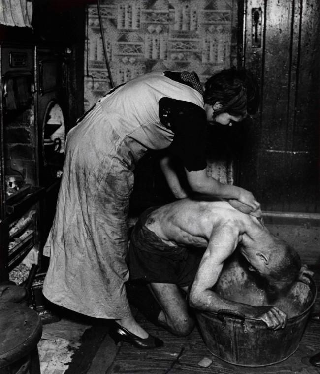 Bill Brandt (British, born Germany 1904-1983) 'Coal-Miner's Bath, Chester-le-Street, Durham' 1937