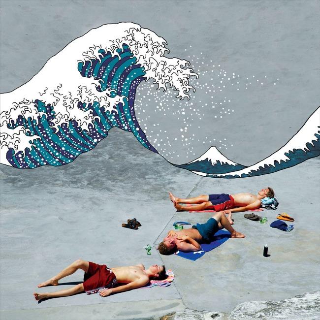 William Yang (Australia b. 1943) 'Great Wave off Clovelly' 2005/2016
