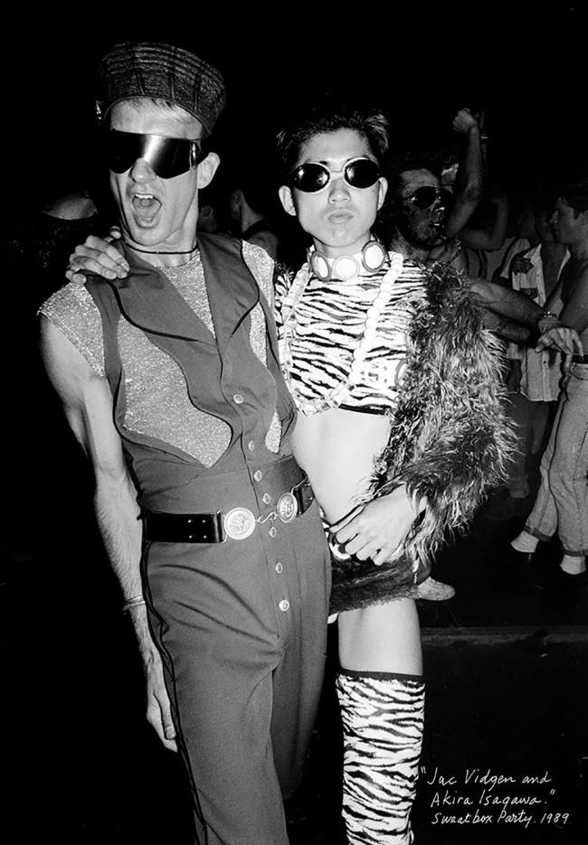William Yang (Australia b. 1943) 'Jac Vidgen and Akira Isogawa, Sweatbox Party' 1989