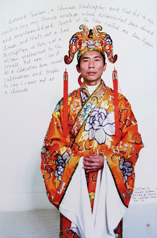 William Yang (Australia b. 1943) 'Life Lines #11 – William in scholar's costume (1984)' 1984/2009