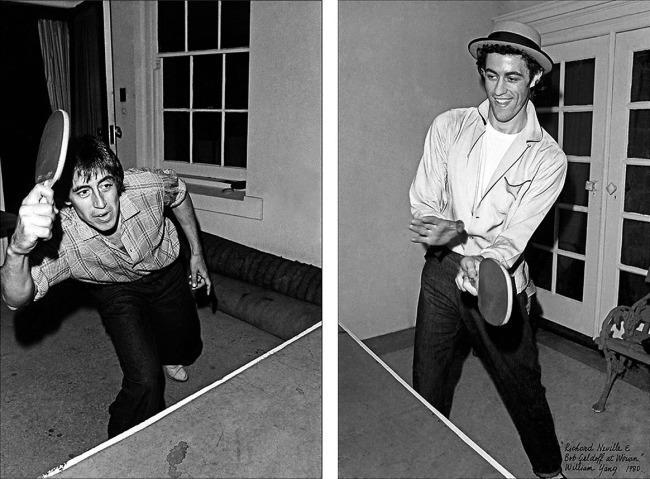 William Yang (Australia b. 1943) 'Richard Neville and Bob Geldof at Wirian' 1980