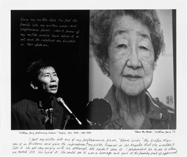 "William Yang (Australia b. 1943) ""William Yang performing Sadness"" Sydney 1992"