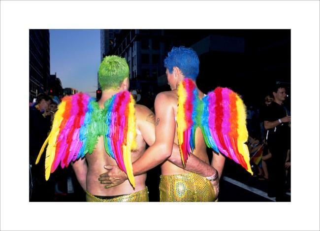 William Yang (Australia b. 1943) 'Rainbow Angel Wings' 2003