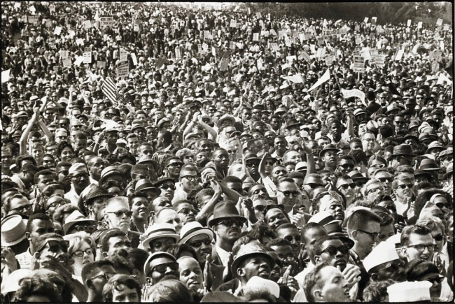 Robert (Bob) Adelman (American, 1930-2016) 'Washington, D.C., Cheering crowd during speeches at historic March on Washington' 1963
