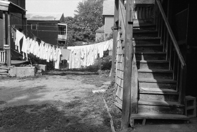 Dawoud Bey (American, b. 1953) 'Clothes Drying on the Line, Syracuse, NY' 1985, printed 2019