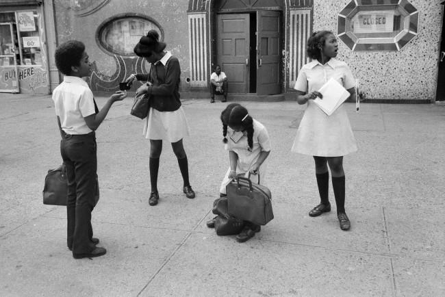 Dawoud Bey (American, b. 1953) 'Four Children at Lenox Avenue, Harlem, NY' 1977, printed 2019