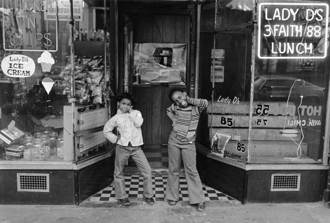 Dawoud Bey (American, b. 1953) 'Two Girls at Lady D's, Harlem, NY' c. 1976, printed 2019