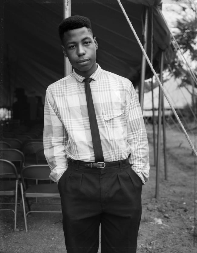 Dawoud Bey (American, b. 1953) 'Young Man at a Tent Revival, Brooklyn, NY' 1989, printed 2019