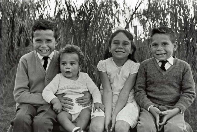 Mervyn Bishop (Australian, b. 1945) 'Aboriginal children, cousin Helen Bishop, Gibbs children, Brewarrina, New South Wales' 1965, printed 2014