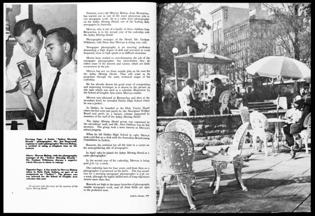 "Aboriginal Protection Board (1952-1969) (publisher) ""Aborigine Trains as News Photographer,"" 'Dawn' magazine, February 1965"