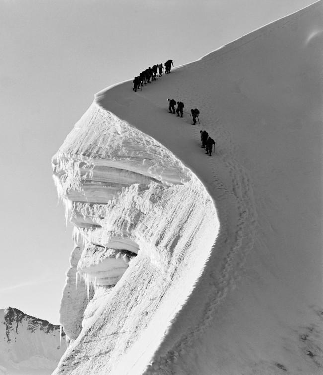 Ernst A. Heiniger (Swiss, 1909-1993) 'Rope team on the Bianco ridge, Grisons' 1941