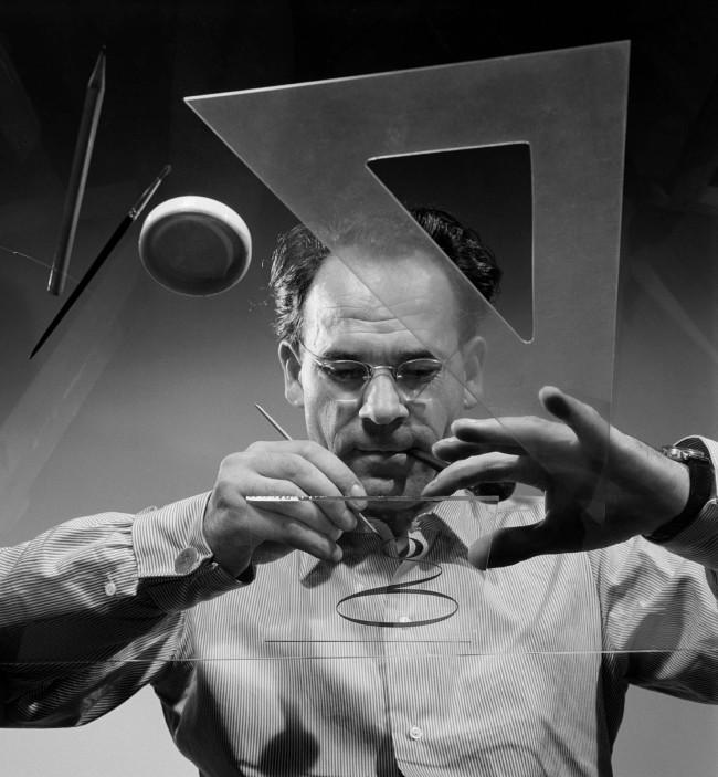 Ernst A. Heiniger (Swiss, 1909-1993) 'Self-portrait' around 1950