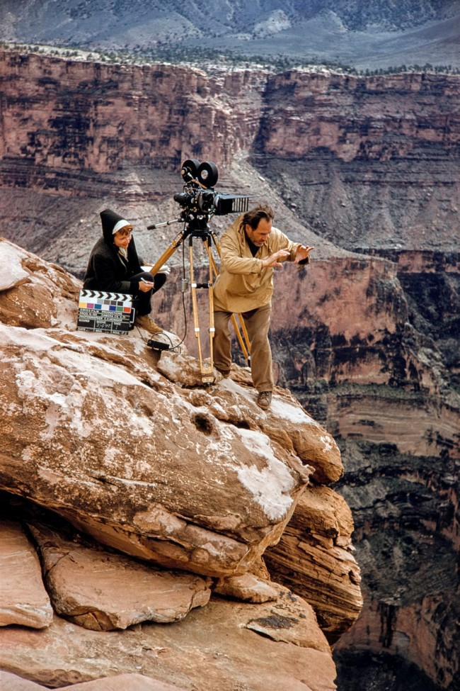 """Ernst A. Heiniger (Swiss, 1909-1993) 'Jean and Ernst A. Heiniger during the shooting of the Cinemasope film """"Grand Canyon"""" (USA, 1958)' 1958"""