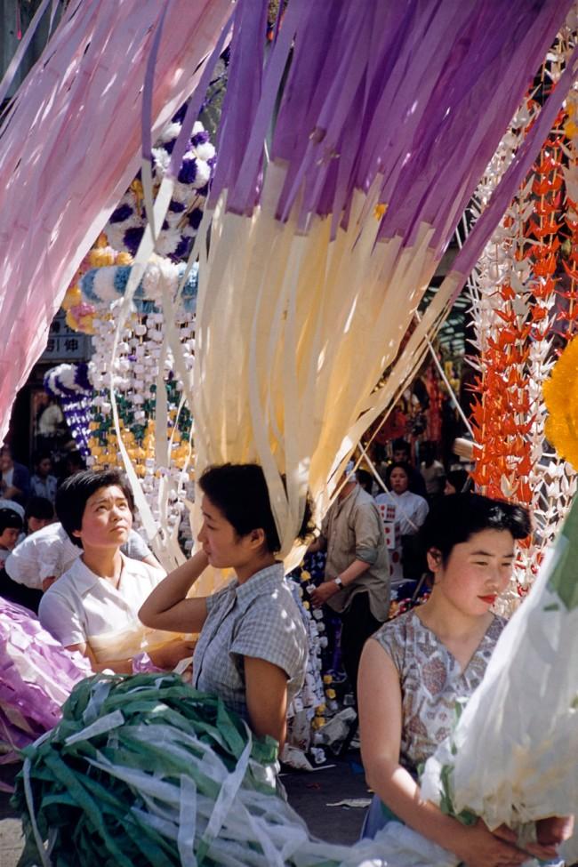 Ernst A. Heiniger (Swiss, 1909-1993) 'Women at a festival, Japan' around 1956