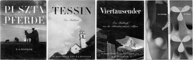 Ernst A. Heiniger book covers