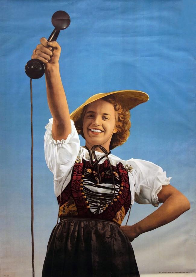 Ernst A. Heiniger (Swiss, 1909-1993) 'Telefon poster' 1942
