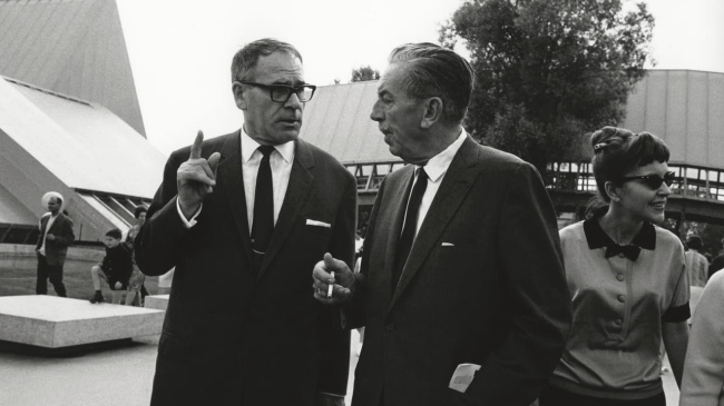 Vicky Schoch. 'Ernst A. Heiniger showed Walt Disney the site of Expo 64. The two were close friends' 1964