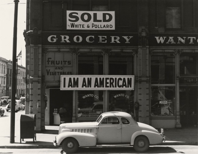 Dorothea Lange (American, 1895-1965) 'Japanese-American owned grocery store in Oakland, California March' 1942