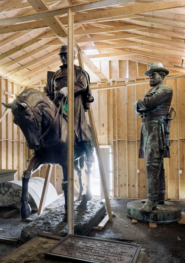 An-My Lê (American born Vietnam, b. 1960) 'Fragment VI: General Robert E. Lee and P.G.T. Beauregard Monuments, Homeland Security Storage, New Orleans, Louisiana' 2017