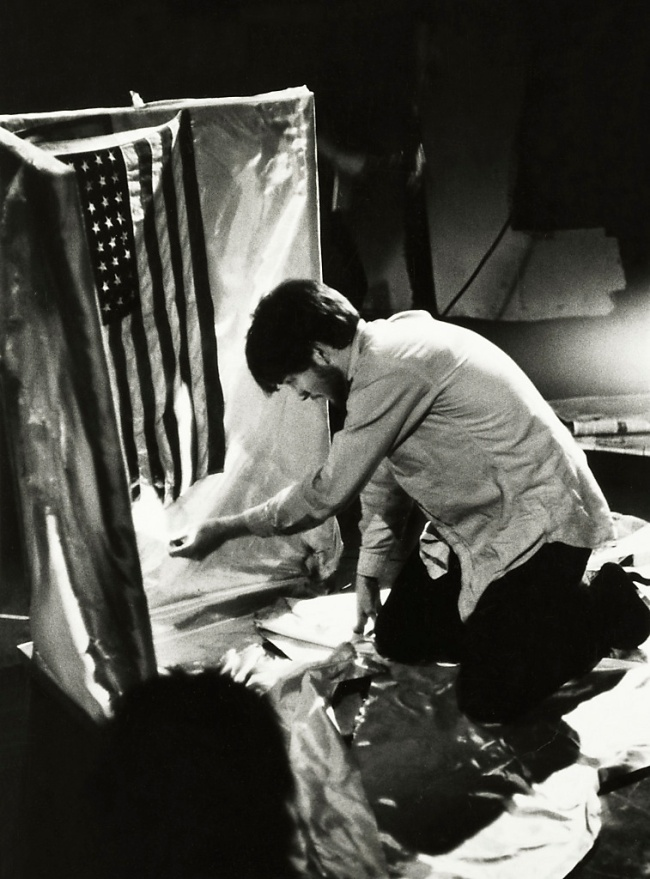 Fred W. McDarrah (American, 1926-2007) 'Jose Rodriguez-Soltero Burned a Flag in a New York Happening' April 8, 1966