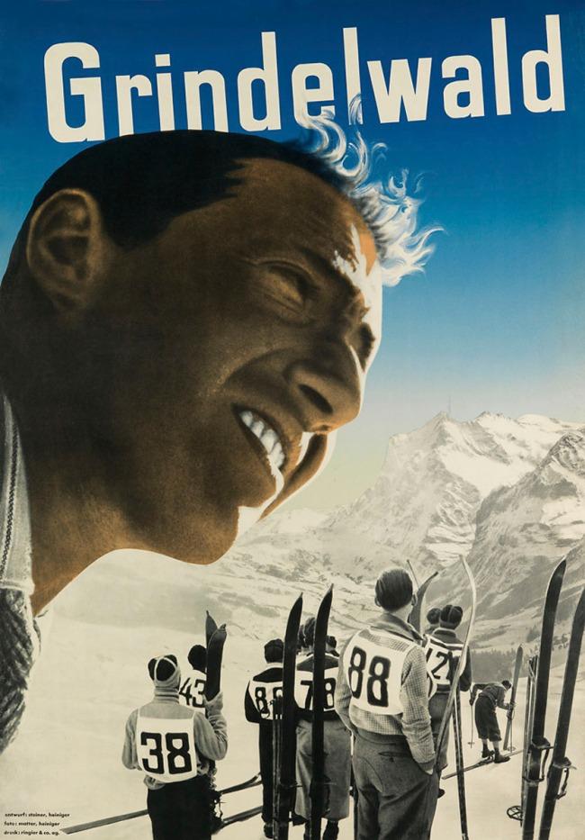 Heiri Steiner (Swiss, 1906-1983) (designer) Ernst A. Heiniger (Swiss, 1909-1993) (photographer) 'Grindewald poster' 1935