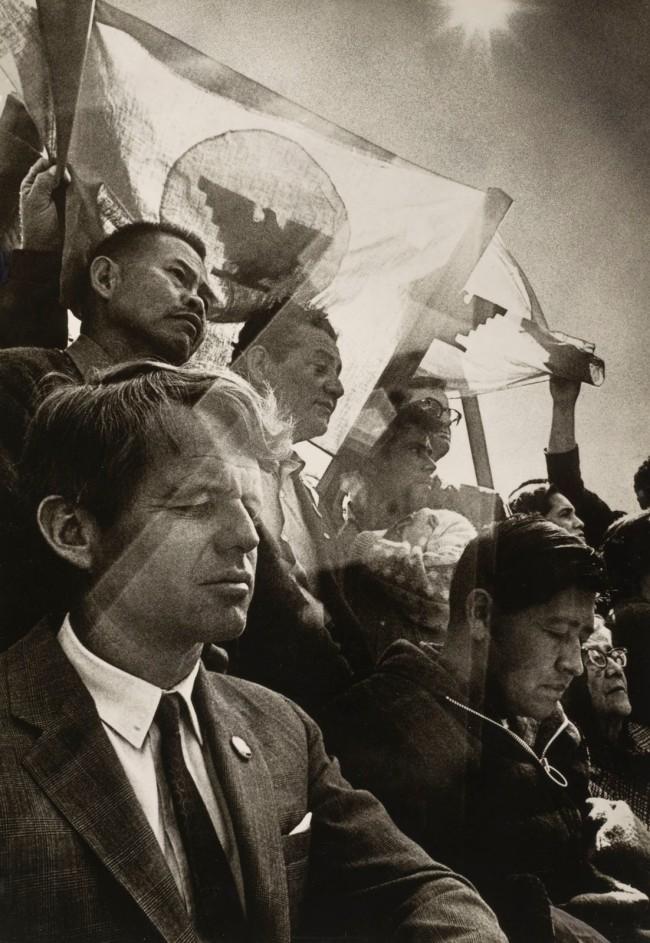 William James Warren (American, b. 1942) 'Robert F. Kennedy and César Chávez Celebrate Mass as Chávez Breaks a Twenty-Five Day Fast, Delano, California' 1968