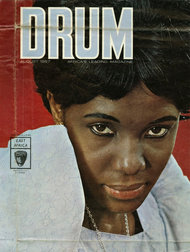 James Barnor (Ghanian, b. 1929) ''Drum' magazine cover with Constance Mulondo, East Africa edition' August 1967